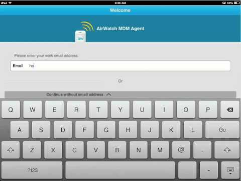 Airwatch MDM for iPad