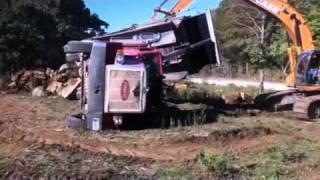 Dump truck flip Kiefer, OK