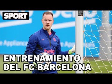 EL ENTRENAMIENTO DEL FC BARCELONA para PREPARAR EL PARTIDO de LIGA ante el GETAFE🏋