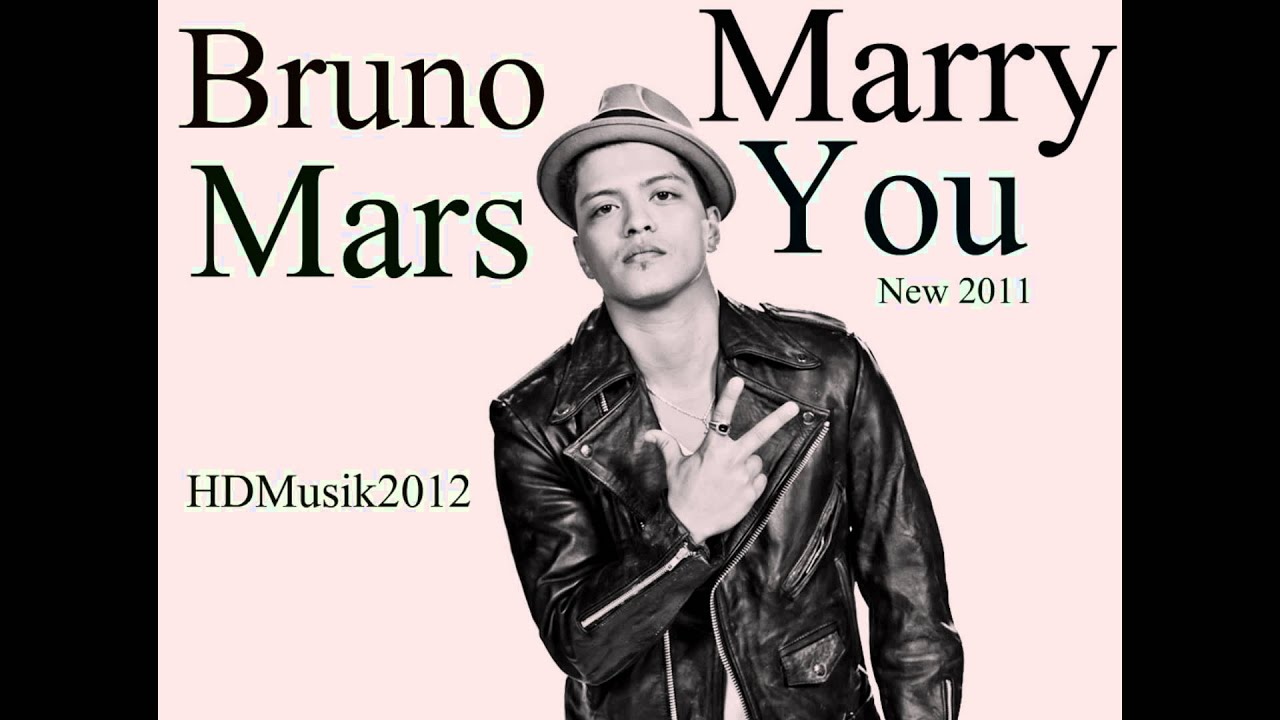 Bruno Mars I Wanna Marry You
