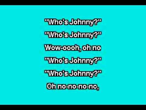 El DeBarge - Who's Johnny (Karaoke Version)