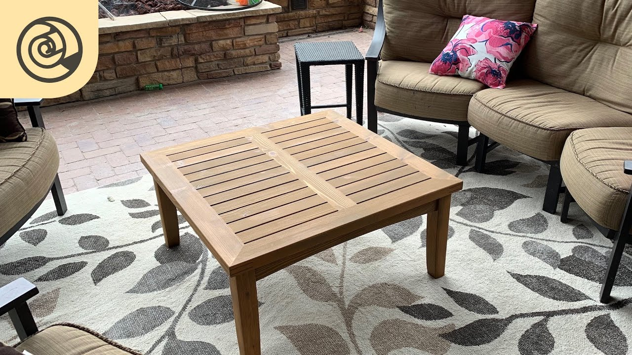 Repurposed Outdoor Coffee Table Youtube