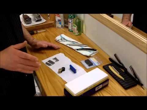 Barber Shop Equipment Maintenance Clipper Blade Sharpening