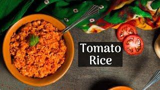 5 Min South Indian Tomato Rice Recipe | Thakkali Sadam | Rice Lunch Box Recipe - Cooking with Siddhi
