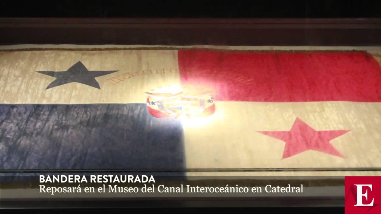 Bandera Restaurada Reposara En El Museo Del Canal Interoceanico