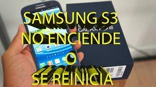 Samsung S3 se reinicia y no enciende