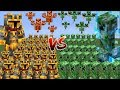 Minecraft 1000 CREEPERS VS 1000 MC NAVEED BATTLE MOD / FIGHT YOUR ARMY AGAINST MOBS!! Minecraft