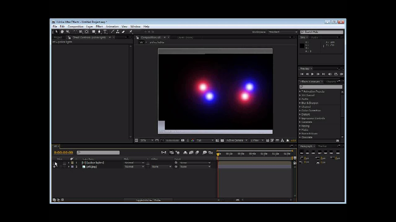 After Effects Police Lights Tutorial Youtube