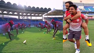 KXIP Led KL rahul With Glenn maxwell & KXIP Team doing last Practice to get win in1st match of IPL.