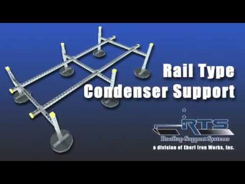 Rail Type Rooftop Condenser Unit Support