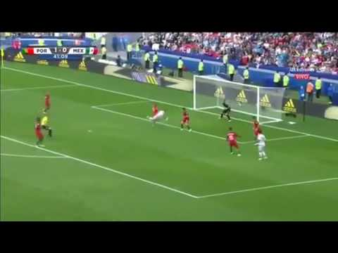 Chicharito goal vs portugal 2017