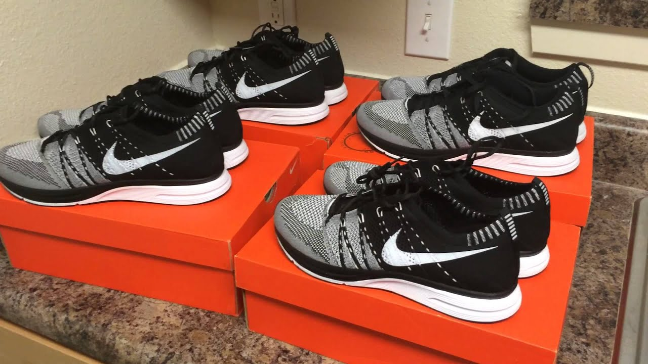 sale retailer 0e2e2 181fb 4 Pairs Of Nike Flyknit Trainer Black - Worn By Kanye (Nike Outlet)
