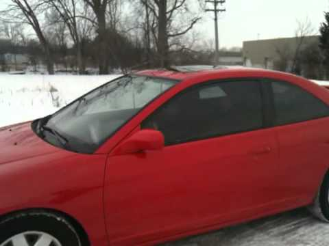 Before And After Tint 35 Honda Civic Ex Youtube