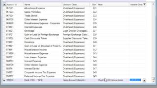 Chart Of Accounts - Comsense Opening Suite