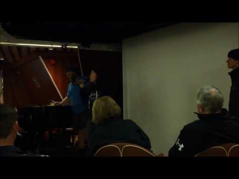 British Antarctic Heritage staff member gives lecture on Ocean Diamond by Port Lockroy 2 Jan 2014