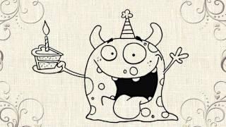birthday happy drawing drawings cool bday designs getdrawings paintingvalley