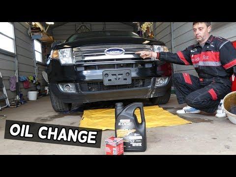 FORD EDGE OIL CHANGE 2007 2008 2009 2010 2011 2012 2013 2014 3.5 V6 OIL CHANGE