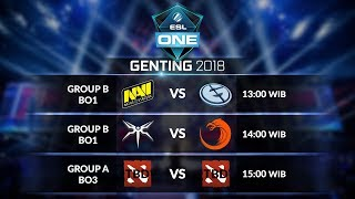 NAVI [UA] vs EVIL GENIUSES [US] (BO1) @ESL ONE Genting Main Event