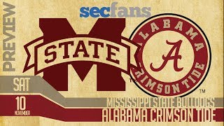 Alabama vs Mississippi State - Preview & Predictions (Computer Model) 2018 College Football