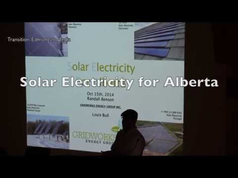"Solar Electricity in Alberta - Randall Benson - ""Panels not Pipelines"" speakers tour"