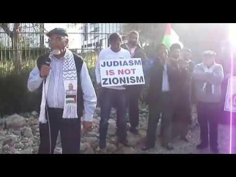 MRN Exec member Iqbal Jassat speaking at #AlQudsDay Picket in Sandton, South Africa