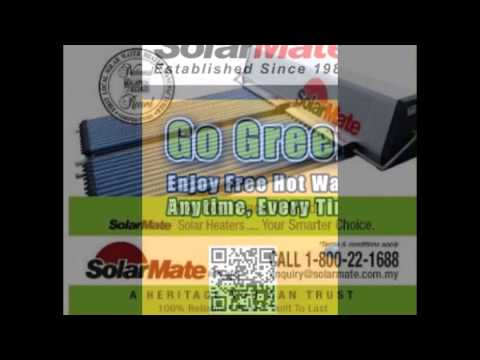 AAA Solar Water Heaters. PH: 03-55693888.  FIRST Supplier Malaysia in thermal solar panel technology