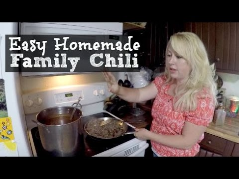 Large Family Cooking | Easy Homemade Chili Recipe