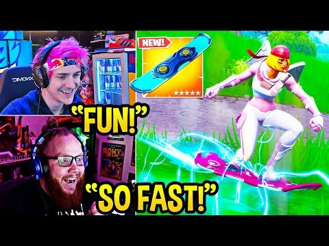 "STREAMERS USE *NEW* ""DRIFTBOARDS"" (Hoverboard) ITEM in FORTNITE! - Fortnite FUNNY Moments thumbnail"
