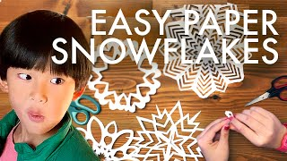 HOW TO MAKE PAPER SNOWFLAKES : Adventuring Family of 11