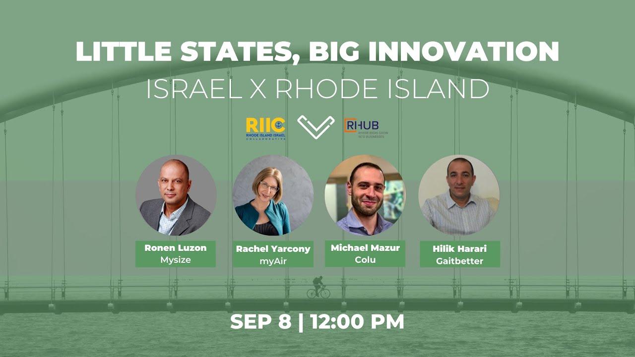 Little States, Big Innovation: Israel X Rhode Island Episode 1 Recording