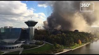 """Рынок """"Синдика"""" горит в Москве"""