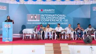 K P Salwa at International Islamophobia Conference, 2016 Dec 16-18,  University of Calicut