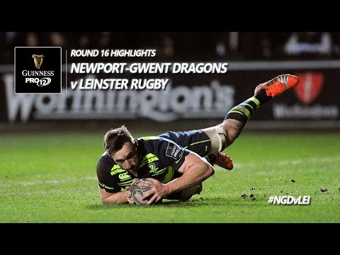 Round 16 Highlights: Newport Gwent Dragons v Leinster Rugby | 2016/17 season