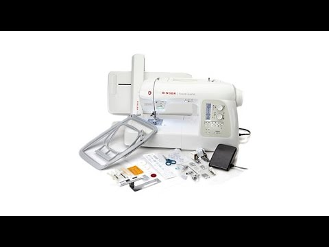 Singer AllinOne Embroidery And Sewing Machine YouTube Beauteous Flatbed Sewing Machine Wikipedia