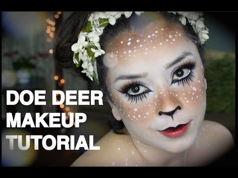 Doe Deer Makeup Tutorial Halloween - YouTube