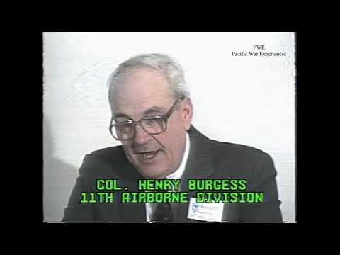 Col. Henry A. Burgess US Army 11th Airborne WWII  Battle of Manila & Raid on Los Banos 1988 Reunion