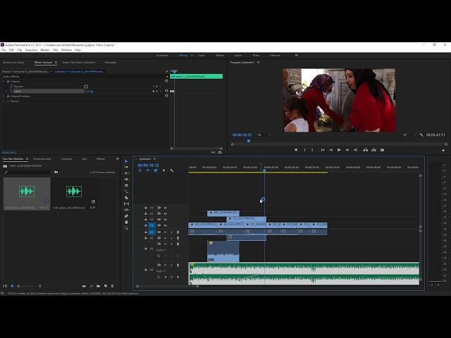 Premiere Pro Eğitimi 11 -  Videonun Seslerini Zaman çizelgesinden ayarlamak