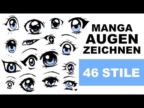 TUTORIAL | Manga AUGEN zeichnen – 46 Stile