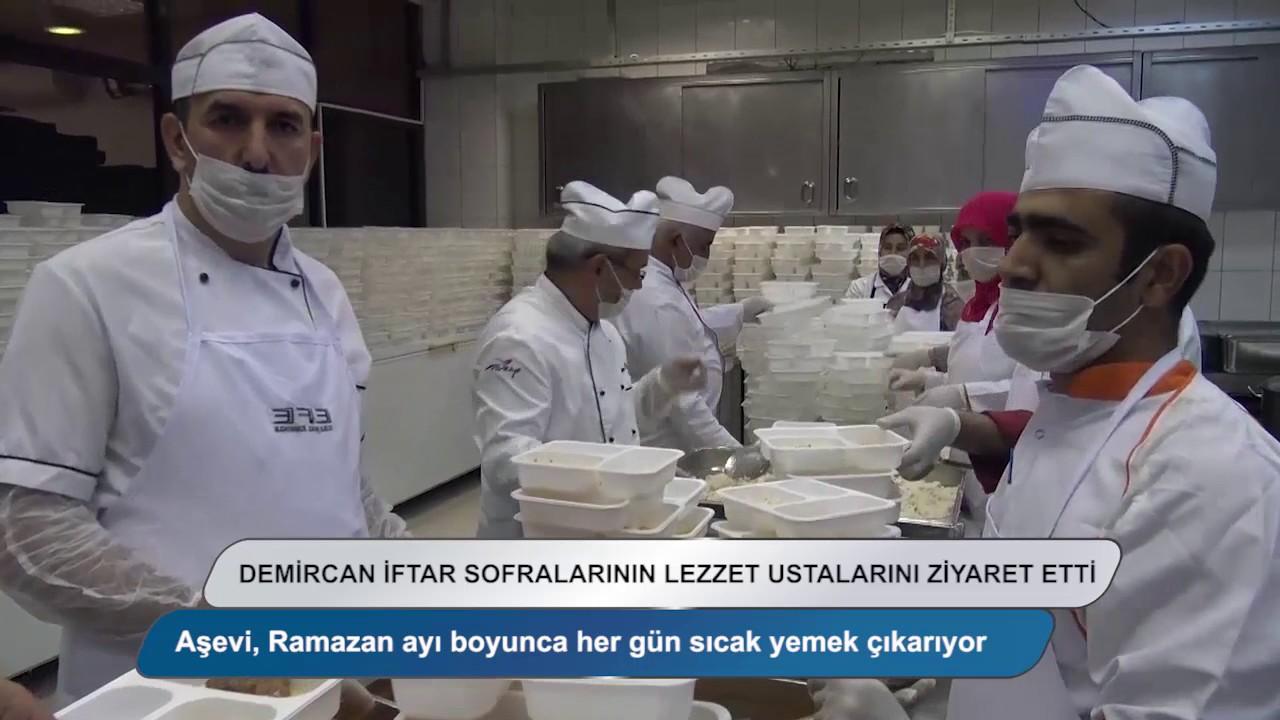Başkan Demircan iftar sofralarının lezzet ustalarını ziyaret etti