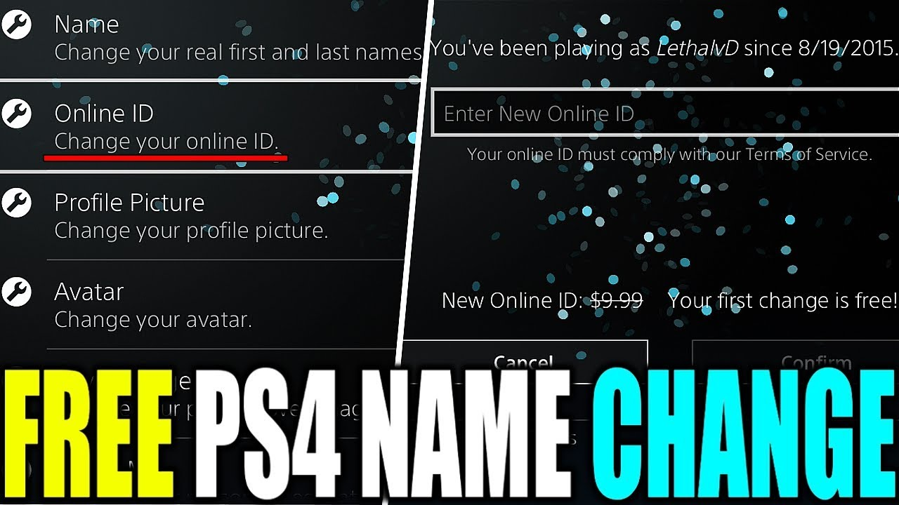 HOW TO GET 100% FREE PSN NAME CHANGE | HOW TO CHANGE YOUR PS4 NAME FREE