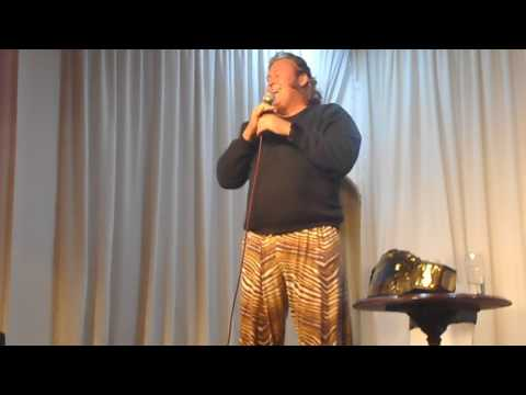 WWF legend Honky Tonk Man sings his theme tune on stage (Leicester, November 2016)