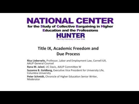 Title IX, Academic Freedom and Due Process