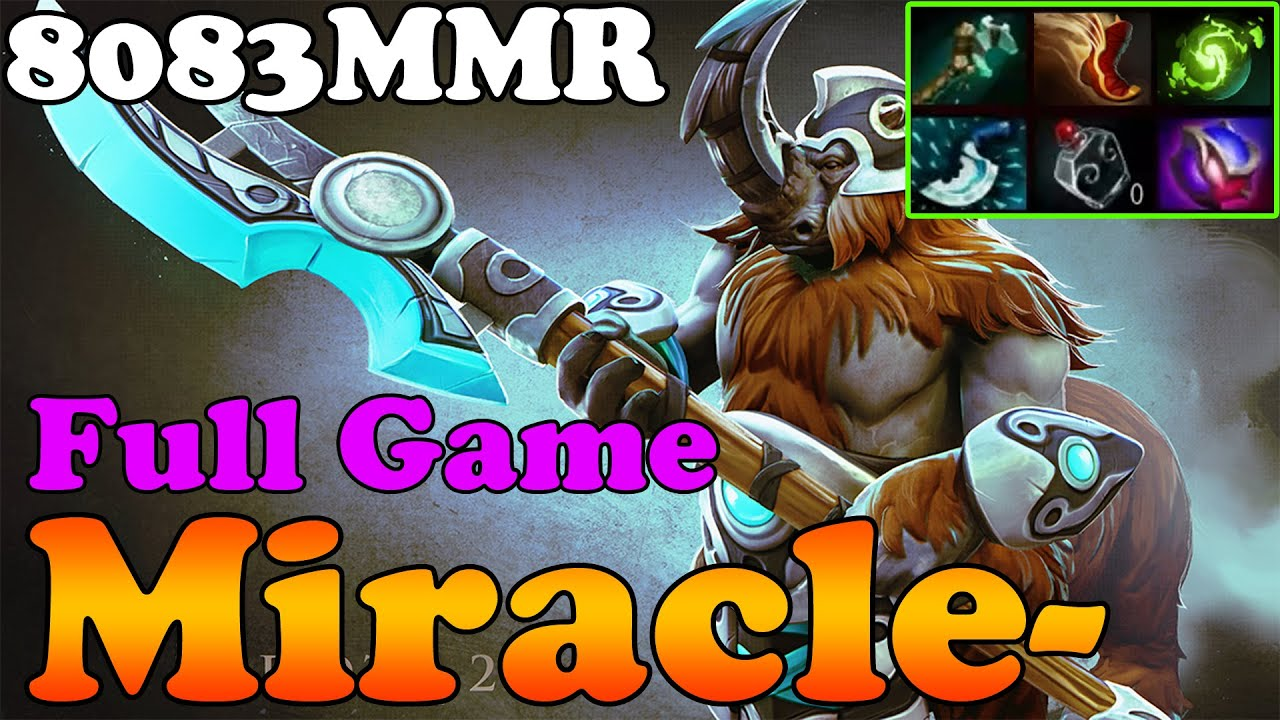 dota 2 miracle top 1 mmr in the world 8083mmr plays magnus