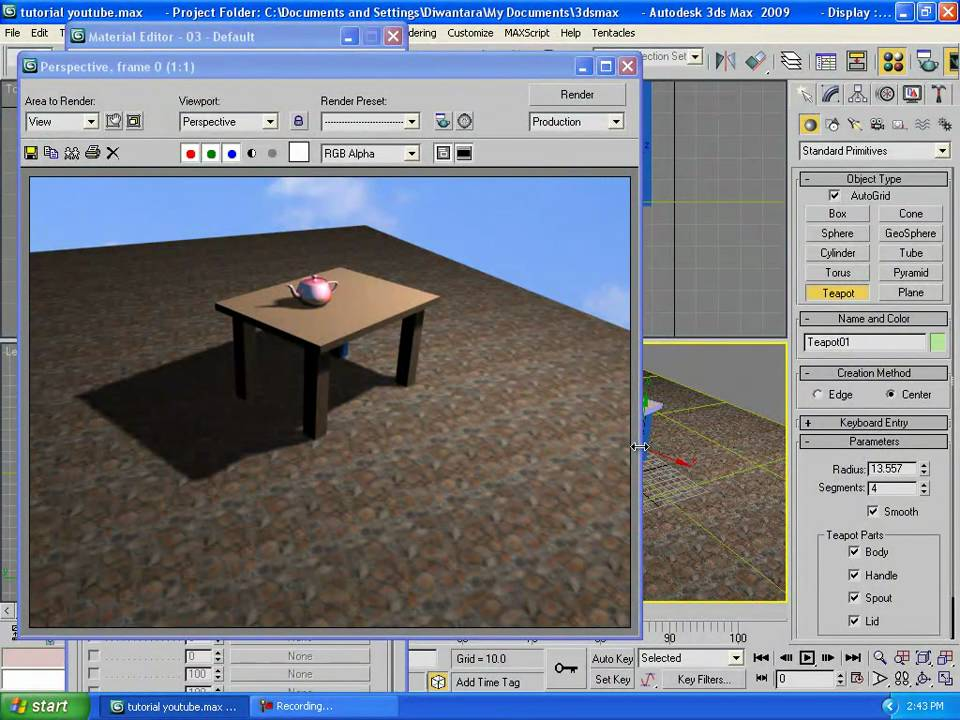3ds max tutorials beginner 2 add light and material to for 3ds max step by step tutorials for beginners