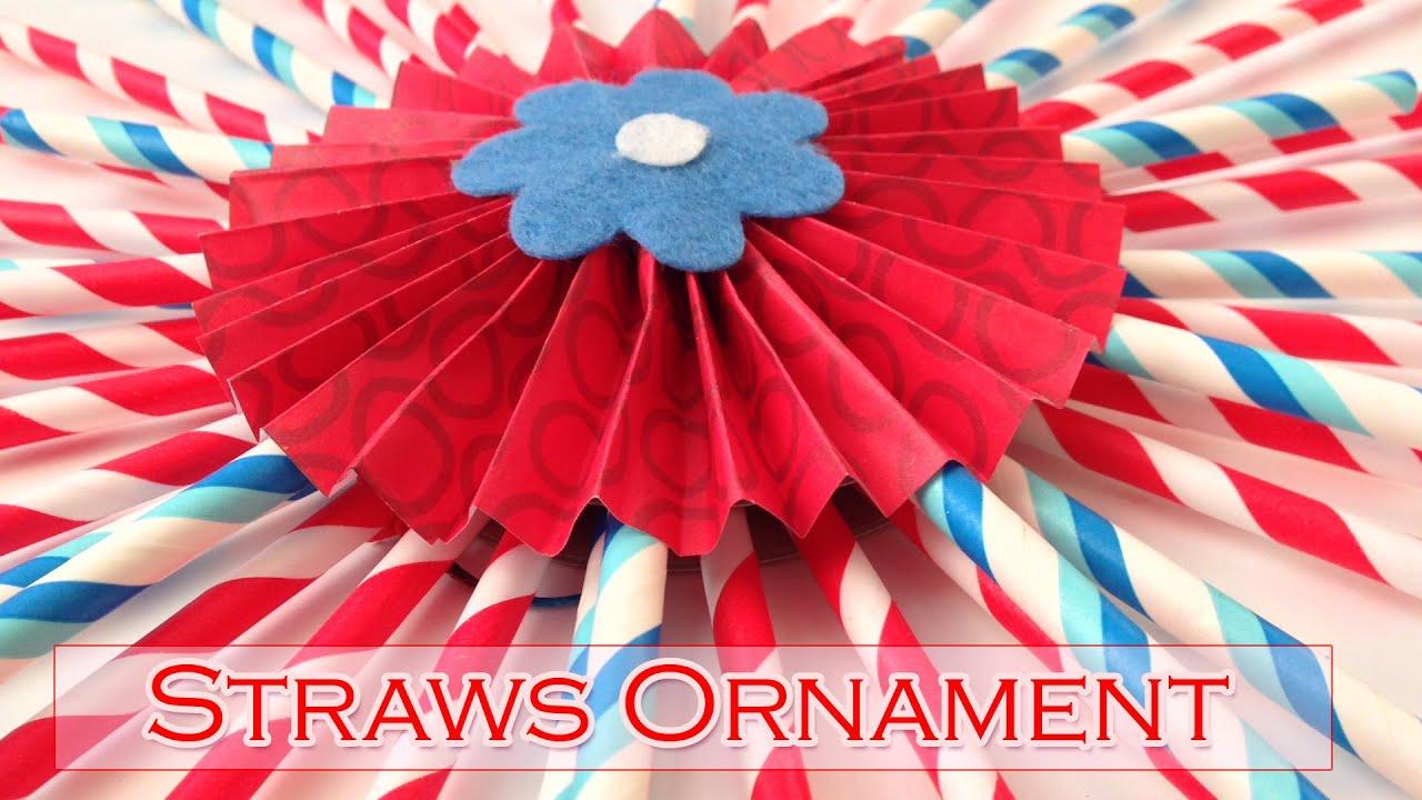 DIY Crafts : Straws ornament - Party decorations - Ana   DIY ... for Straw Lantern  110yll