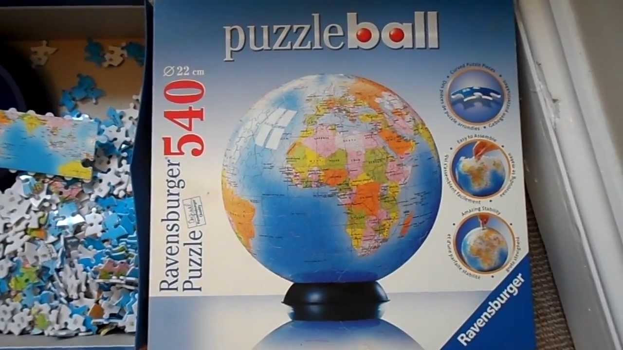 Ravensburger 3d jigsaw puzzle puzzball of the world the globe 22cm ravensburger 3d jigsaw puzzle puzzball of the world the globe 22cm 540 pieces youtube gumiabroncs Choice Image