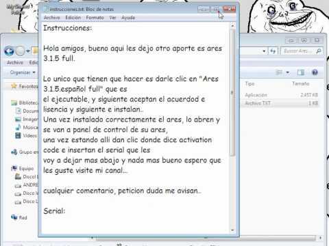 Descargar Ares 3.1.5.Full  Keygen y en español 2012