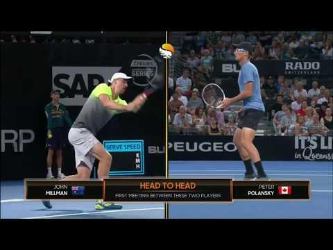 ATP250 Brisbane 1.forduló – Peter Polansky (CAN) V John Millman (AUS)