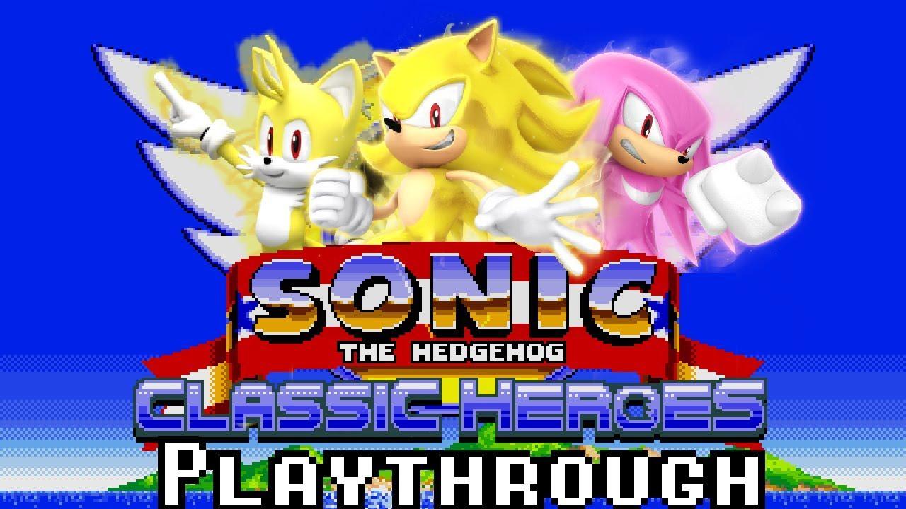 Tas Sonic Classic Heroes Speedrun As Team Super Sonic Youtube