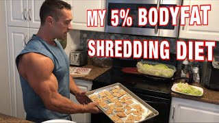 2500 Calorie Full Day of Eating What I'm eating to get sub 5% bodyfat cutting